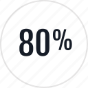 data, eighty, info, infographic, information, percent, rate icon