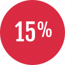 data, fifteen, info, infographic, information, percent, rate icon