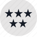 data, five, info, infographic, information, special, stars icon