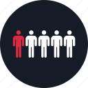 data, five, info, infographic, information, person, users icon