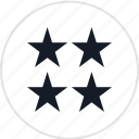 data, four, info, infographic, information, special, stars icon