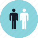 data, info, infographic, information, person, two, users icon