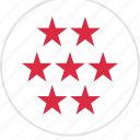 data, info, infographic, information, seven, special, stars icon