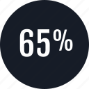 data, info, infographic, information, percent, rate, sixtyfive icon