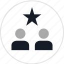 data, info, infographic, information, star, two, users icon