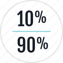 data, info, infographic, information, ninety, percent, ten icon