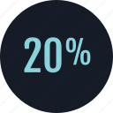 data, info, infographic, information, percent, rate, twenty icon