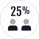 data, info, infographic, information, percent, quarter, twentyfive icon