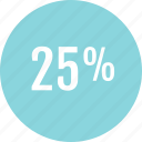 data, info, infographic, information, percent, rate, twentyfive icon