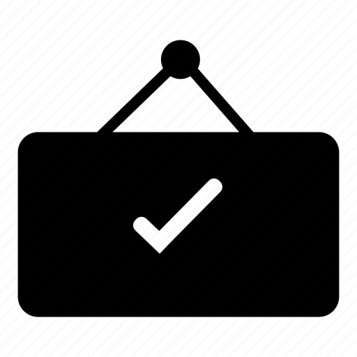 board, check, open, open board icon