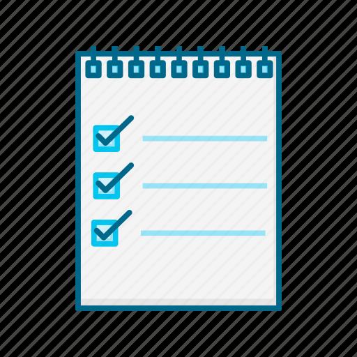 checklist, data, document, file, list, paper, sheet icon