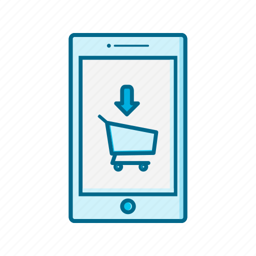 cart, device, mobile, online, phone, shopping, smartphone icon