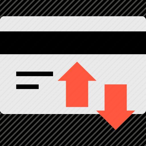 arrow, credit, down, up icon