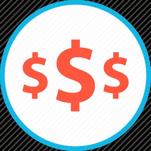 amount, dollars, money icon