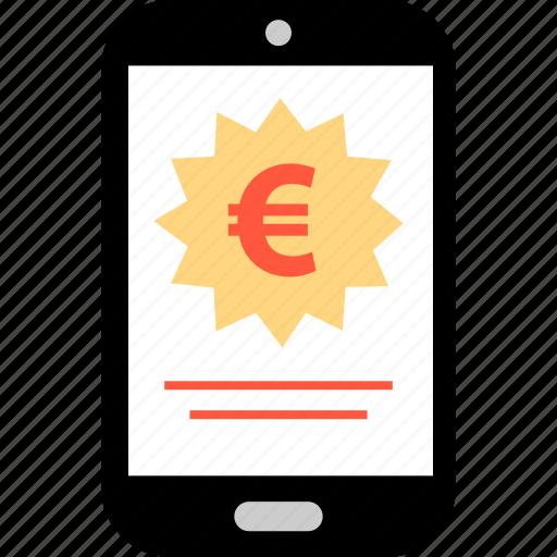 euro, mobile, uk icon