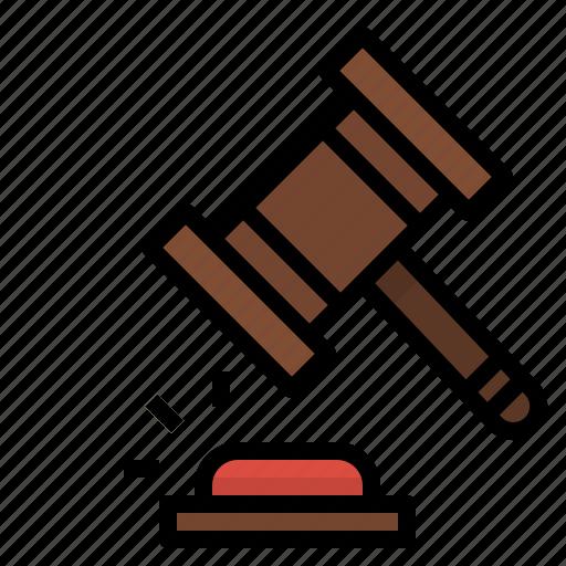 auction, bid, hammer, judge, justice, law, verdict icon