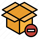 boxes, package, packing, remove, unbox, warehouse icon
