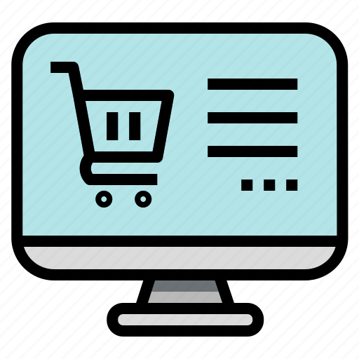 buy, cart, computer, online, shopping icon