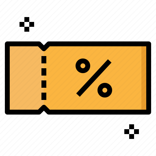 commerce, coupon, discount, sales, shopping, voucher icon