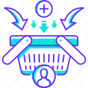 ad to cart, basket, ecommerce, item, product, shopping, store icon