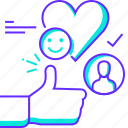 favorite, feedback, like, rating, review, thanks, thumbsup icon