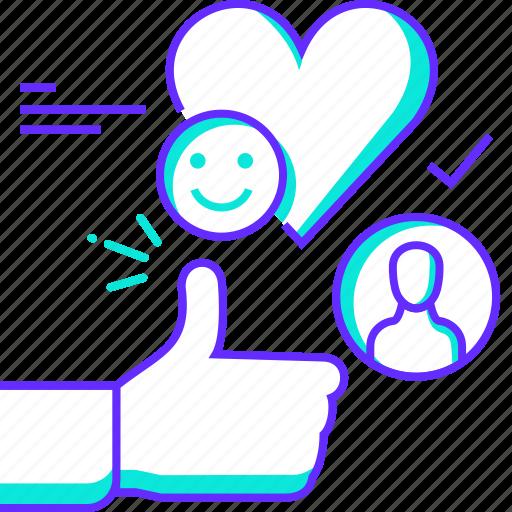 favorite, feedback, like, rating, review, thanks, thumbsup icon