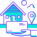 deliver, delivery, home, house, item, product, shopping icon