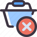 basket, buy, delete, shopping icon