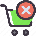 buy, cart, delete, shopping, trolley icon
