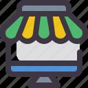 market, online, shop, store