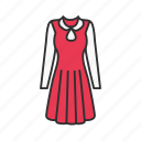 clothes, dress, red dress, women's clothes icon