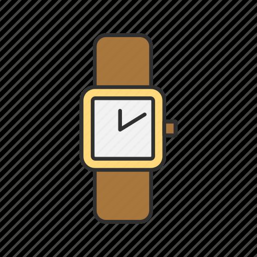 analog, gold watch, watch, wristwatch icon