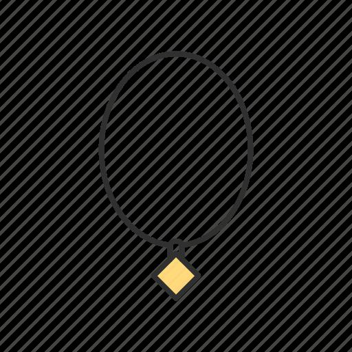 diamond, jewelry, necklace, shop icon