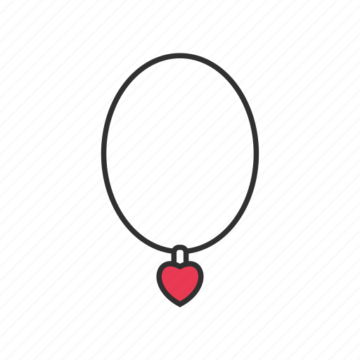heart, jewelry, necklace, shop icon