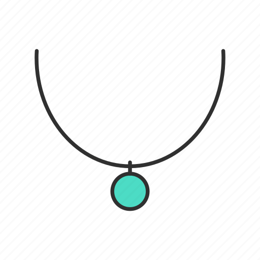 jewelry, necklace, pendant, shop icon