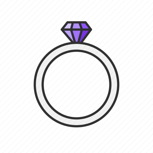 diamond, engagement ring, jewelry, ring, wedding ring icon