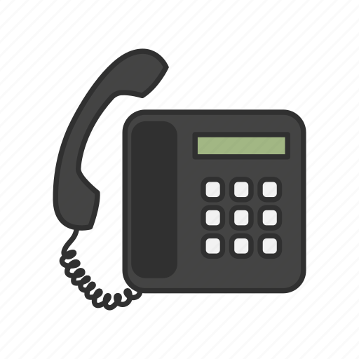 call, office phone, phone, telephone icon