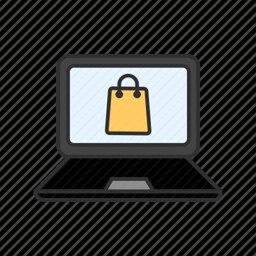 ecommerce, online shopping, shop, shopping bag icon