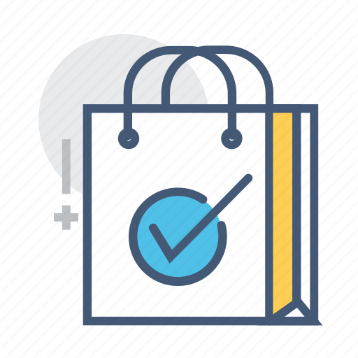bag, checked, internet, latest technology, oscillation, shopping, shopping bag checked icon
