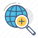global search, international search, overall search, search, searching, universal search, worldwide searching icon