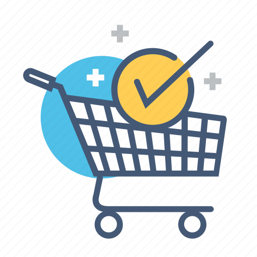 cart add, checked, online, online store, payment, shopping, shopping cart icon