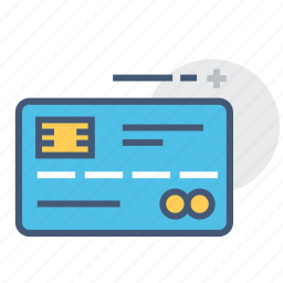 credit card, credit cards, debit card, debit cards, finance, magstripe, smart cards icon
