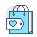 favorite, holder, love, online, shopper, shopping, shopping bag icon