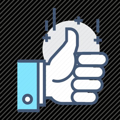 favorite, good, hand, like, likes, thumbs up, thumbsup icon