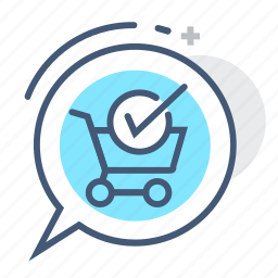 available, cart, check mark, in stock, shopping, stock, wheels icon