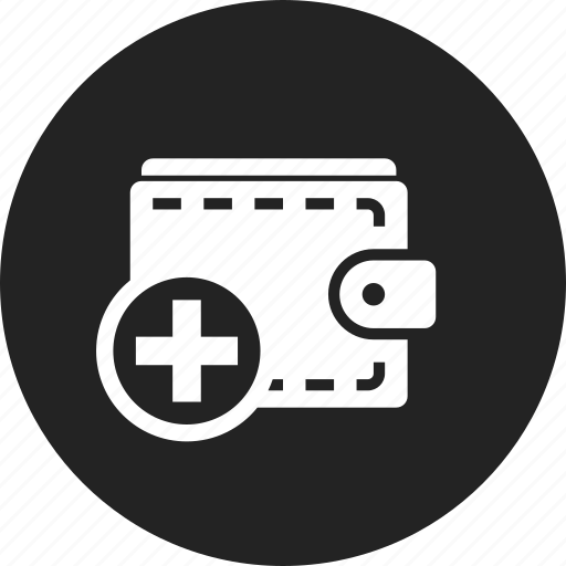add, purse, wallet icon