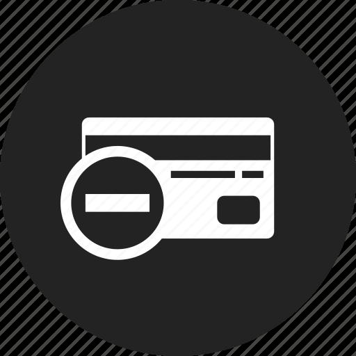 card, credit, remove icon