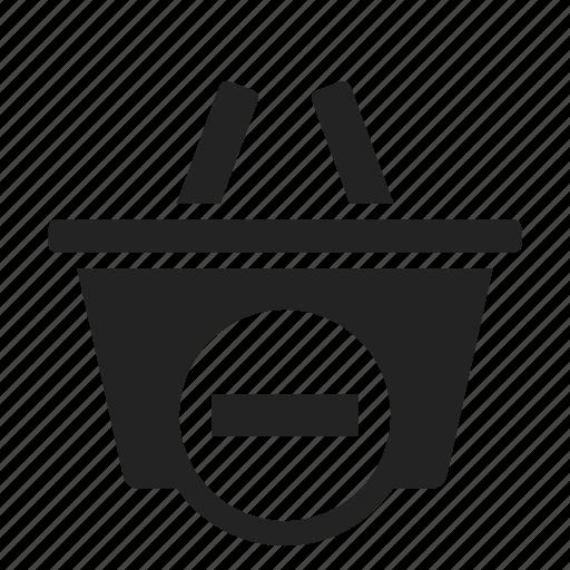 basket, remove, shopping icon
