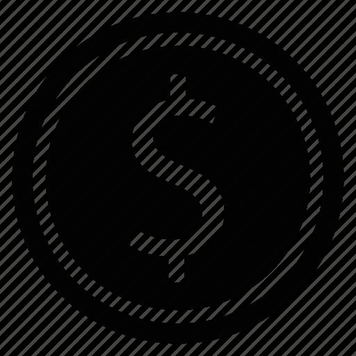 coin, dollar, money, online, shopping icon