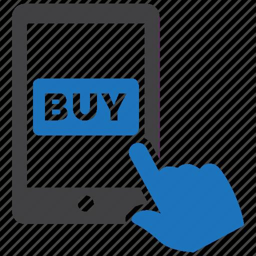 buy, ecommerce, mobile, phone, purchase, shopping icon